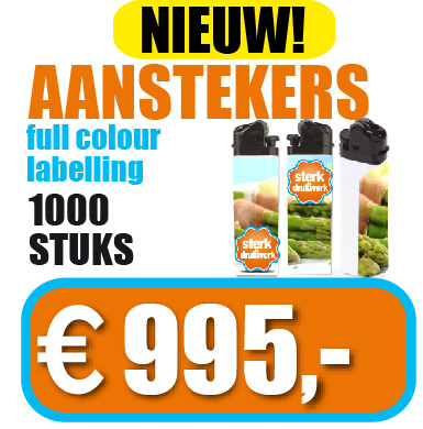 Aanstekers full colour label